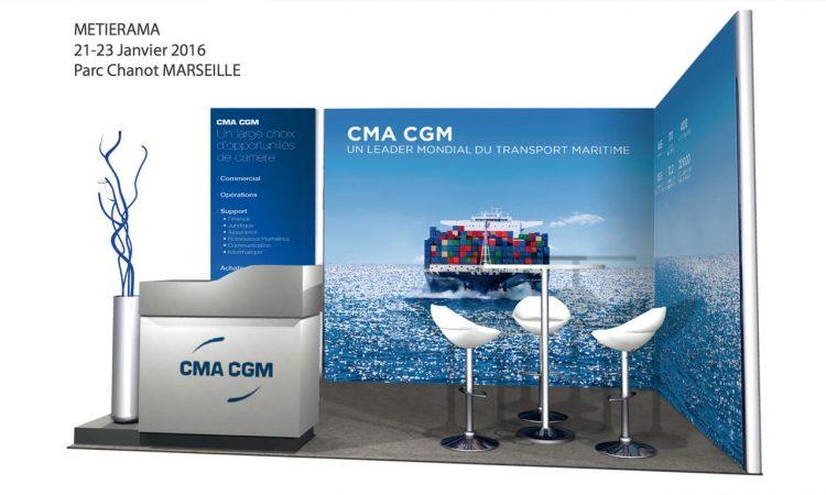 Cma cgm flex design for Stand modulaire
