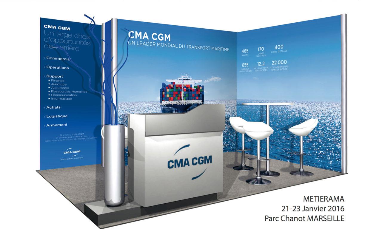 Cma cgm flex design for Creation de stand